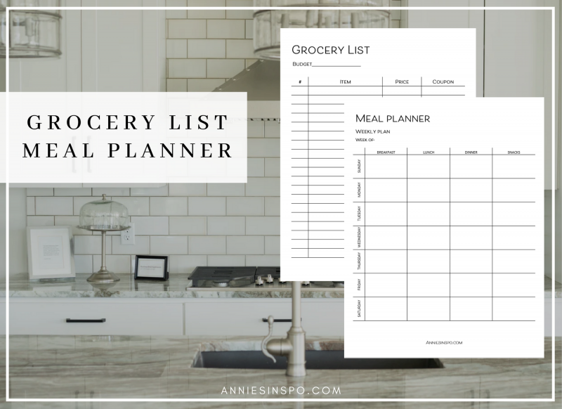Weekly Meal Planner - Grocery List