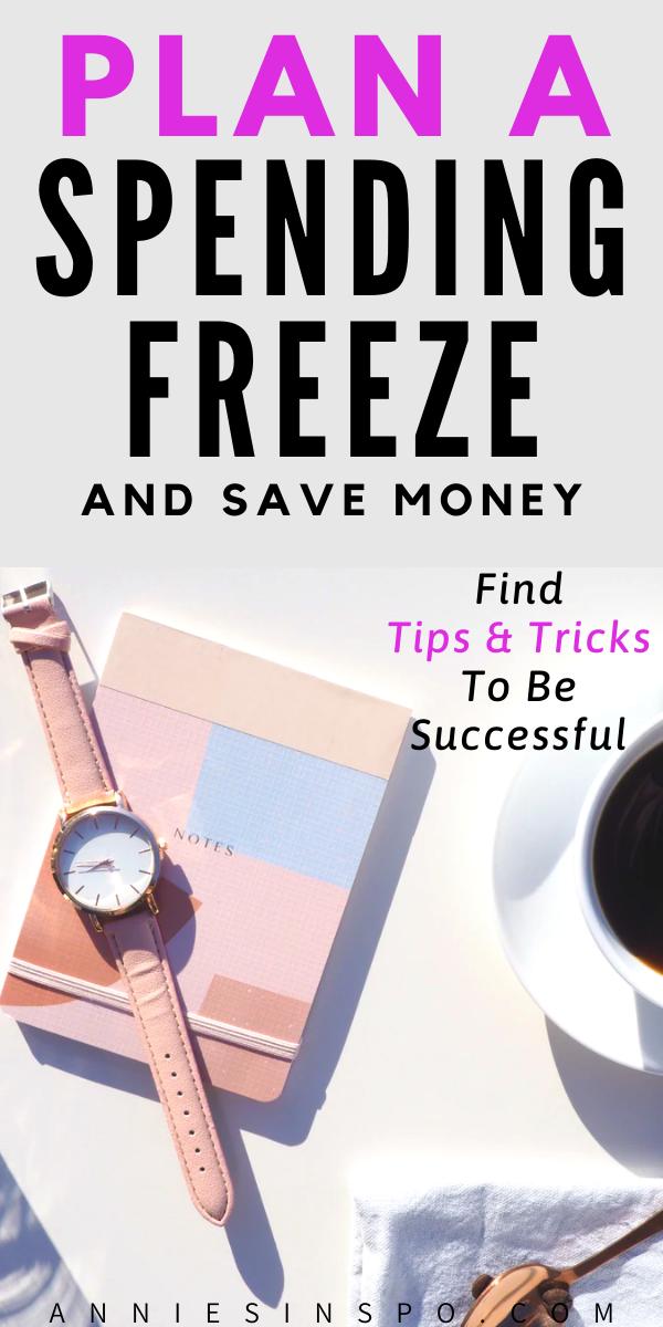 Plan a spending freeze